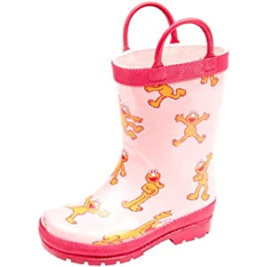 Hatley Sesame Street Little Girls'  Elmo Girl Rainboot
