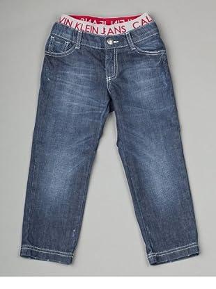 Calvin Klein Jeans Jungen Jeans CBB312 EH9K9, Straight Fit (Blau(D76 ))