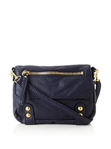 Linea Pelle Women's Dylan Chevron Shoulder Bag (Midnight)