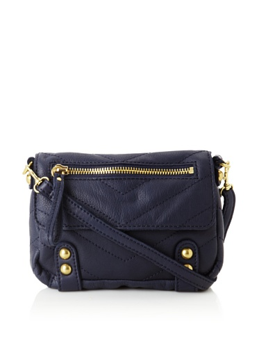 Linea Pelle Women's Dylan Chevron Shoulder Bag (Midnight)