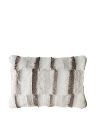 Montague & Capulet Faux Mink Boudoir Pillow, Grey