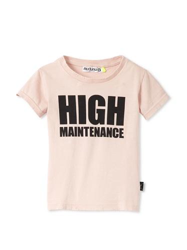NUNUNU Kid's High Maintenance Tee (Pink)