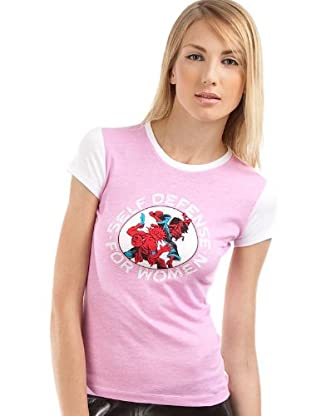 Custo Barcelona T-Shirt Little Defense (Weiß/Rosa)