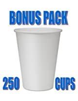 [BONUS] 250 Genuine Joe Disposable Hot Cups (White) GJO19047