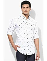 White Regular Fit Casual Shirt Allen Solly