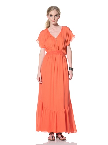 Dolce Vita Women's Midler Maxi Dress with Open Back (Coral)