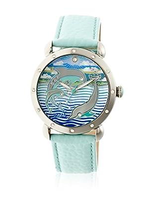 Bertha Uhr mit Japanischem Quarzuhrwerk Estella türkis 40 mm