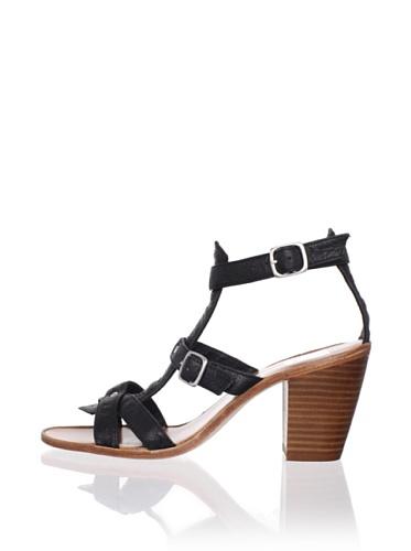 Dolce Vita Women's Kenley Sandal (Black Leather)
