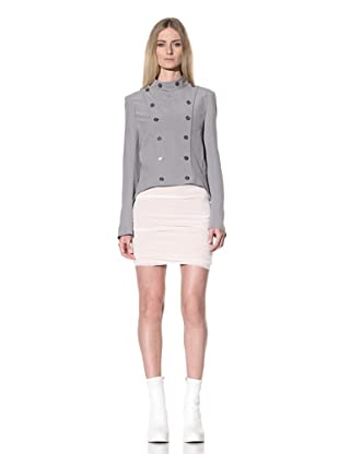 Ann Demeulemeester Women's Military Style Jacket (Pearl)