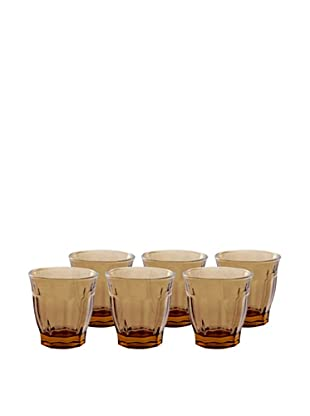 Couleur Nature Set of 6 Café Glasses (Amber)