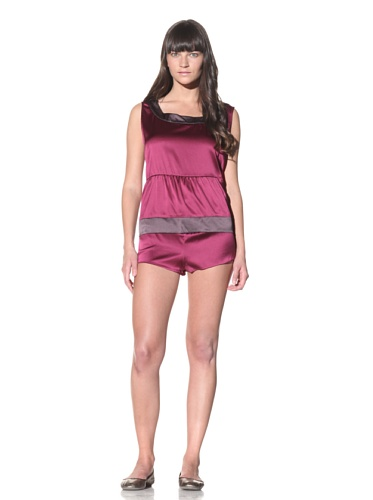 MARNI Women's Satin Night Shirt (Dry Rose)