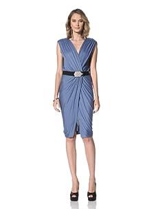 Paul & Joe Women's Imogen Sleeveless Dress With Embellished Belt (Blue)