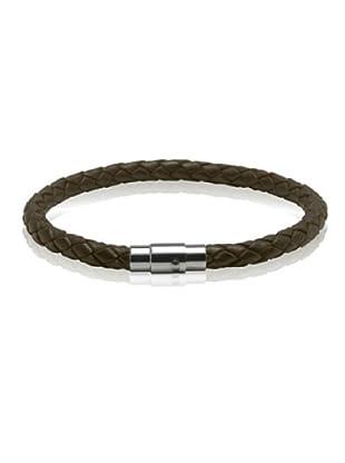 Van Maar Armband Echtleder, dunkelbraun