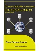 Transact-SQL DML y funciones - Bases de datos (Fichas de informática) (Spanish Edition)