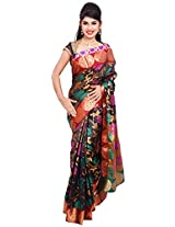 Diva Women's Silk Saree (Dark Grey )