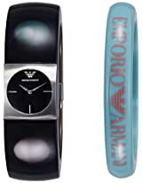 Emporio Armani End-of-Season Analog Black Dial Women's Watch - AR7378