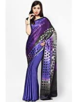 Satin Multi Color Digital Printed Saree