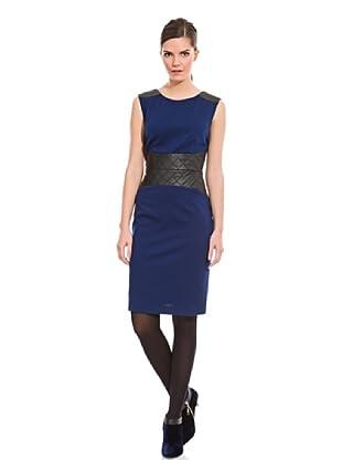 Cortefiel Vestido Jackie Fajón Piel (Azul Marino)