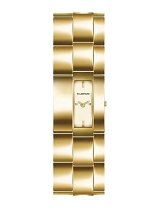 K&BROS 9162-3 / Reloj de Señora  con brazalete metálico dorado