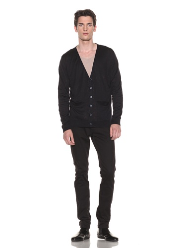 Halston Men's Basic Cardigan (Navy)