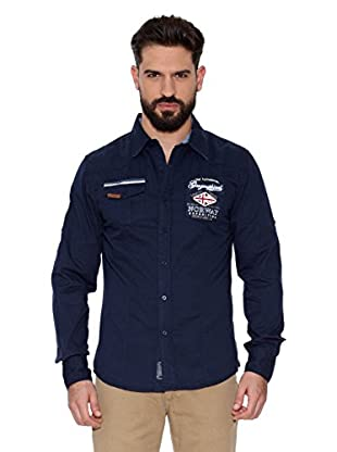 Geographical Norway Camisa Hombre Zactica Men Ls 404 (Azul marino)