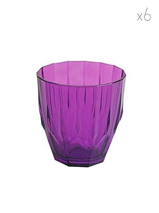 Pasabahce Set 6 Bicchieri Diamond Acqua Viola