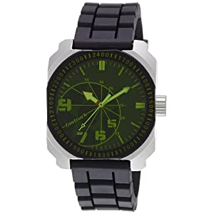 Fastrack Commando Analog Green Dial Men's Watch - 3083SP01