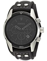 Fossil End-of-Season Chronograph Analog Black Dial Men's Watch - CH2586