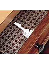 Safet Innovations Spring Loaded Cabinet and Drawer Latch, 4 Pack