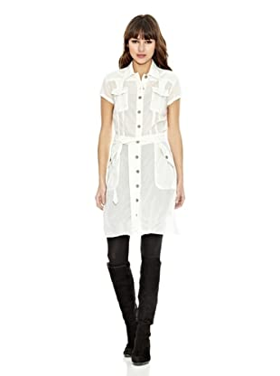 Z-BRAND Vestido Cuello Camisa Walker (Blanco)