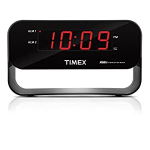 Timex Decorative XBBU Dual Alarm Clock, Black