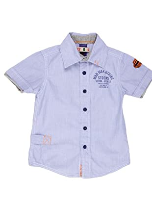 Naf Naf Chevignon Camisa Parche (azul / blanco)