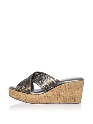 Cordani Women's Dane Crisscross Sandal (Pewter)