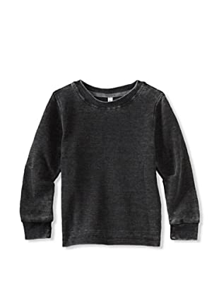 Colorfast Apparel Boy's Burnout Thermal (Black)