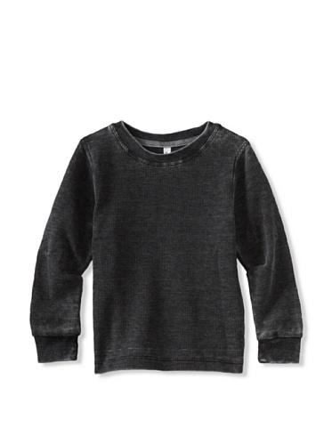 Colorfast Apparel Boy's Burnout Thermal (Black)