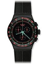 Swatch Chronograph Black Dial Men's Watch - YOB105
