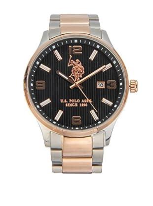 U.S. POLO ASSN. Uhr mit japanischem Quarzuhrwerk Herald silberfarben/goldfarben 44 mm