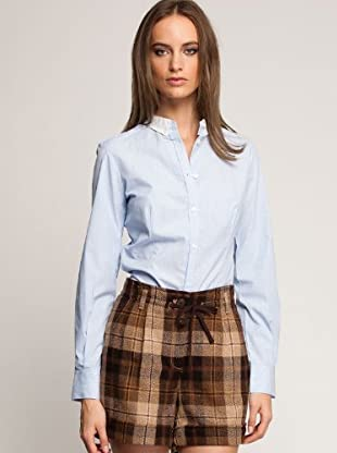 Mango Camisa Gina (Celeste)