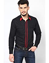 Solid Black Casual Shirt I Know