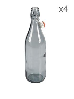 Delys by verceral Lote De 4 Botella De Vidrio