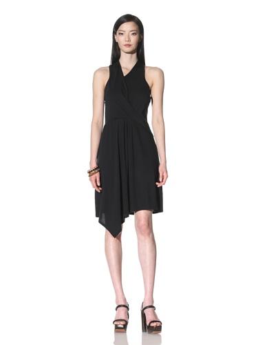 Cullen Women's Sleeveless Draped Dress (Black)