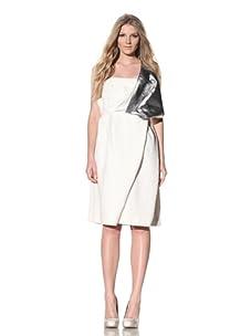 Chloé Women's One-Shoulder Dress with Lamé (Milk)