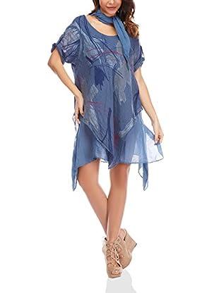 100% Lino by Bleu Marine Kleid Laura