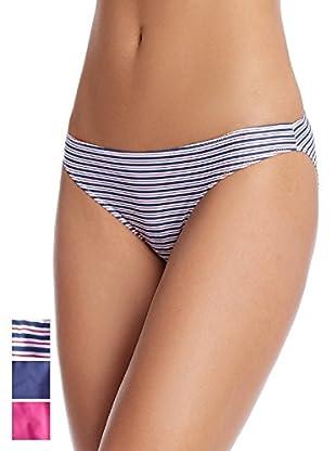 PRINCESA by PLAYTEX Pack x 3 Braguitas Braga Bikini Poliamida Triplets