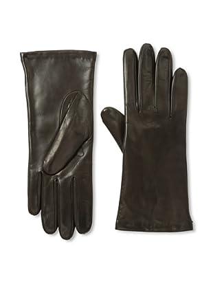 Portolano Women's Cashmere Lined Leather Gloves (Teak)