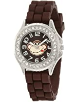 Frenzy Kids' FR375 Brown Rubber Band Monkey Watch