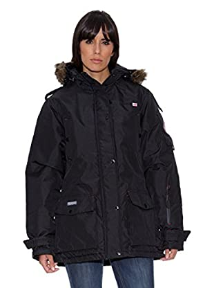 Geographical Norway Abrigo Bugsy Lady Long Basic (P) (Negro)