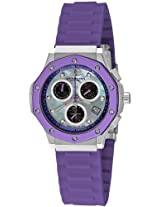 "Stuhrling Original Women's 180R.1116Q78 ""Special Reserve Apocalypse Cosmo Girl"" Stainless Steel Watch with Purple Rubber Strap"