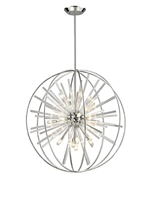 Artistic Lighting Twilight Collection 15-Light Pendant, Polished Chrome