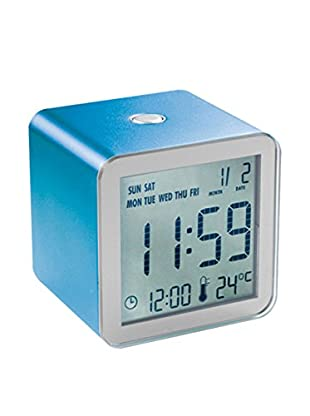 Lexon Cube Clock, Blue